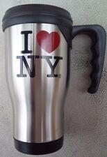 I LOVE NY NEW YORK TRAVEL COFFEE STAINLESS STEEL MUG 16 OUNCES HEART