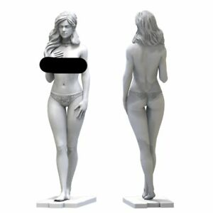 1/24 75mm Resin Figure Model Kit Modern Sexy Girl Female Unpainted Unassambled