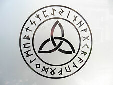 Triquetra Rune Circle god myths pagan Stickers/car/van/bumper/window/decal 5202B