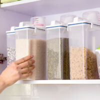 2L Creative Plastic Kitchen Food Cereal Grain Bean Rice Storage Container Box