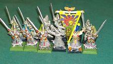 High Elf Warhammer Fantasy High Elves Swordmaster command metal bits lot (12)