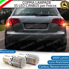 COPPIA LAMPADE P21W BA15S CANBUS 35 LED ARANCIONI AUDI A4 B7 FRECCE POSTERIORI