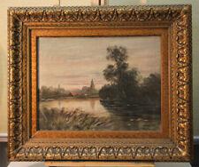 J. H. Coster (1846-1920) Ölgemälde Polderlandschaft Niederlande