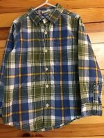 Crazy 8 Ready 4 Recess Plaid Long Sleeve Button Down Shirt Boys Top Size S 5-6
