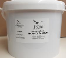 Elite 15L Litre 'Tough' Hand Cleaner - Heavy Duty Orange Gritted - Like SWARFEGA