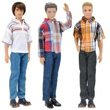 3Sets Dolls Clothes Casual Wear Jackets Shirt Pants Outfit for Barbie Ken Doll K