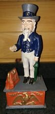 Vintage 1900's Steel Uncle Sam United States Figure Bank US Americana