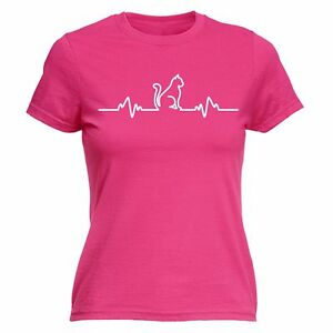 Cat Pulse Heartbeat WOMENS FITTED T-SHIRT kitten pussy mothers day present her