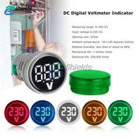 22MM DC 6-100V Mini LED Voltmeter Digital Display Voltage Meter Volt Tester