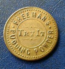 Freemans Pudding Powder Brass Token -scarce