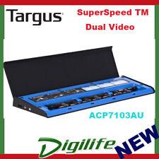 Targus USB 3.0 SuperSpeed TM Dual Video Docking Station w/Power Charge ACP7103AU
