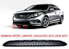 Front Bumper Lower Radiator Mesh Black Insert Grille For 2015-17 Sonata (Non Se) (Fits: Hyundai)