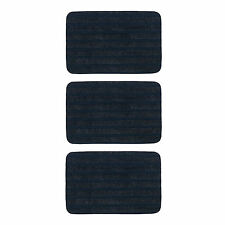 3 x IKEA BORRIS Door/Hall Floor Mats w/Anti-Slip Backing (Dark Blue 38x57cm)