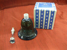 Avon Hospitality Bell Moonwind Cologne Beautiful Blue Glass Vintage Never Used