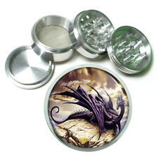 "2.5"" 4PC Aluminum Sifter Magnetic Herb Grinder Dragon Design-007 Custom"