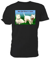 West Highland Terrier Dog T shirt, Westies - Choice of size & colours!