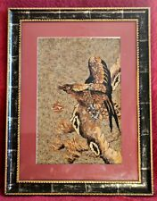 Large Vintage Framed and Glazed Real Butterfly Wing Picture 'Eagle'