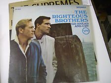 The Righteous Brothers - Go Ahead and Cry  LP Verve Stereo