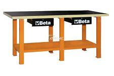 Banco da lavoro tecnico Beta Tools C56W in acciaio con piano in legno orange