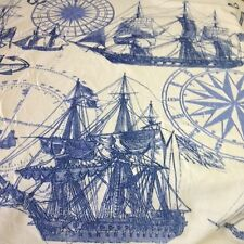 Kelly O'Neal ships indigo printed linen fabric by the yard peri blue 59x59