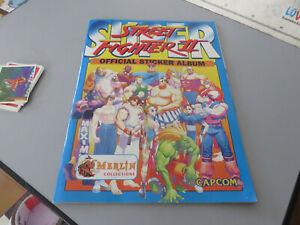 Album Super Street Fighter 2 Official Sticker Album Merlin Collection Capcom