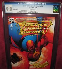 JUSTICE LEAGUE OF AMERICA #2 VARIANT COVER DC COMIC 2006 2nd series - CGC 9.8