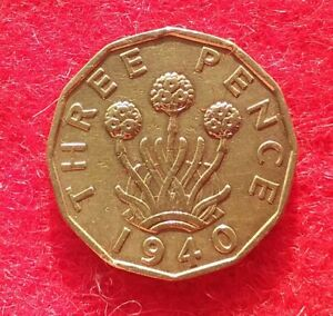 King George VI  Three Pence 3d Coin   1940      #315