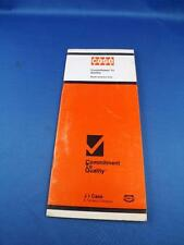 CASE COMMITMENT TO QUALITY CHECK BOOKLET PRE AFTER DELIVERY WARRANTY COVERAGE