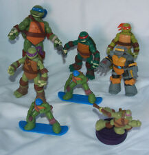 8 Teenage Mutant Ninja Turtle Action Figures One Says Phrases Dated 2012
