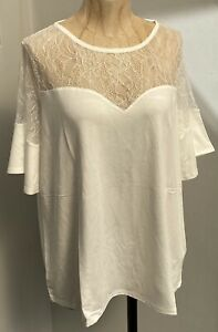 Lipsy London Cream Lace SweetHeart Top (BRAND NEW WITH TAGS) All Sizes