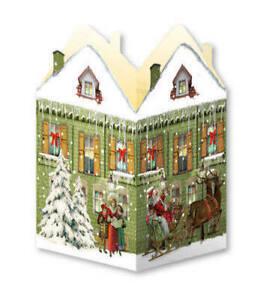 Advent Calendar Victorian Style Christmas town house tea light lantern d