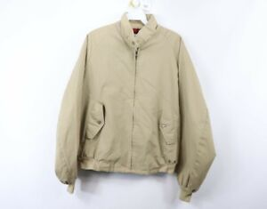 Vintage 90s American Eagle Mens Size 42 Plaid Lined Outdoor Bomber Jacket Khaki