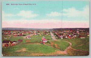 Rapid City South Dakota~Birdseye View Overlooking City~~Vintage Postcard