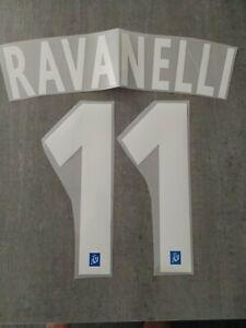 Flocage RAVANELLI n°11  OM  MARSEILLE -  France Patch Football pour maillot bleu
