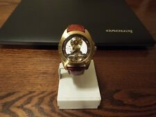 BERNOULLI GOLD COLOR CASE AUTOMATIC STAINLESS STEEL  BROWN LEATHER MENS WATCH