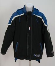 Da Uomo Vintage Starter ORLANDO MAGIC NBA BASKET GIACCA NERO TAGLIA XL XLARGE