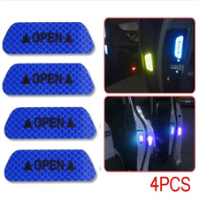 4pcs/set Car Auto Door Open Reflective Sticker Tape Decal Safety Warning Blue