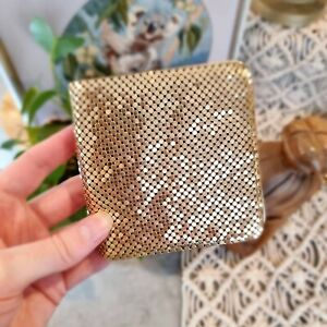 Vintage Whiting and Davis Gold Mesh  Purse Wallet Made in USA