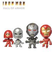Marvel Iron Man Hall of Armor Figures Mini Bobble Heads Originally SDCC Set of 4