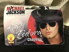 Michael Jackson Black Fedora Adult Men's Hat 80's Pop Star Hat