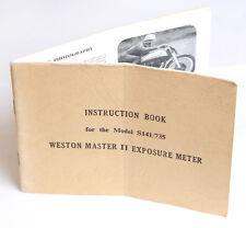 West Master II Universal Exposure Meter Instruction Manual / Guide - 19pp