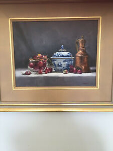 Original oil painting by well known artist Fiona.Bilbrough