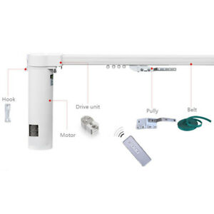 """7-Meter (276"""") Remote Control Electric Curtain Tracks, 2N Motor & free Timer"""