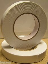 10 Metres Double Sided Self Adhesive Foam Craft Tape Padded Mounting White 10m