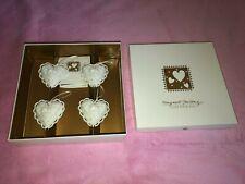 New Love Four You #Hf-4 Boxed Set Of 4 Shamrock Pieces Margaret Furlong Av