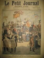 CARNAVAL DEGUISEMENT BOEUF GRAS CHAR D'ARTAGNAN PARIS LE PETIT JOURNAL 1896