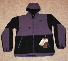 $199 New THE NORTH FACE Black MEN'S MEDIUM M Denali Fleece Jacket Purple Hood