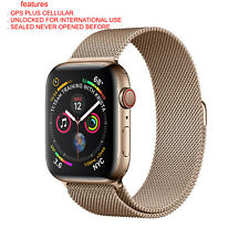 SEALED Apple Watch Series 4 44 mm Gold Stainless Steel Case  Gold unlocked