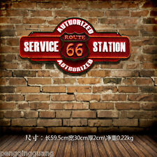 Vintage Metal Hanging Signs Route 66 Service Station Wall Decor Art Poster Plate