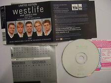 WESTLIFE What Makes A Man CD2 – 2000 UK LTD ED + Giant POSTER – Pop - BARGAIN